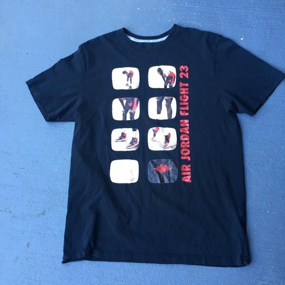 90s black NIKE JORDAN t-shirt size S SOATK
